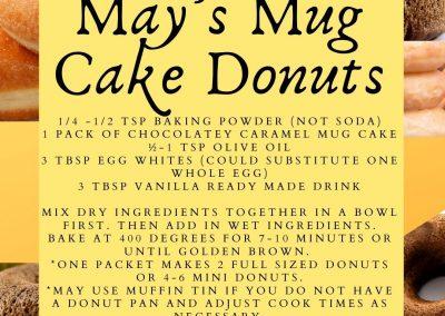 May's Mug Cake Donuts