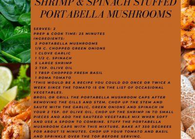 Shrimp & Spinach Stuffed Portabella Mushrooms