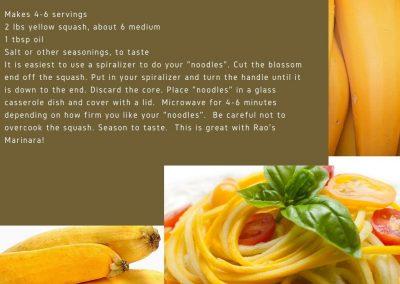 Yellow Squash Pasta